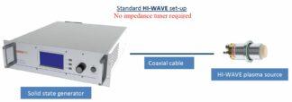 1X450W Hi-Wave collisional type plasma source complete setup for 1 source