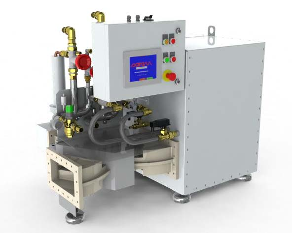 54 kW, 915 MHz magnetron based generator water cooled, continuous mode