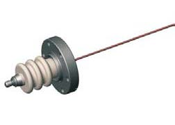 1 pin high voltage feedthrough 20000V / 3 Amp. Stainless steel conductor DN40CF flange