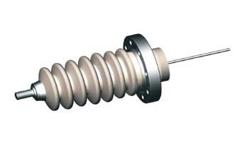 1 pin high voltage feedthrough 60000V / 3 Amp. Stainless steel conductor DN63CF flange