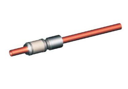 1 pin water cooled feedthrough 8000V DC Copper conductor, weld fitting