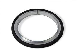 Centering ring Aluminum Viton, DN80ISO