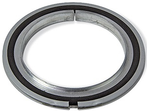 Centering ring with Aluminum outer ring and Perbunan seal, DN80ISO