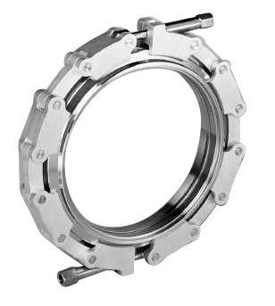 Chain clamp with stainless steel links for metal seals DN100
