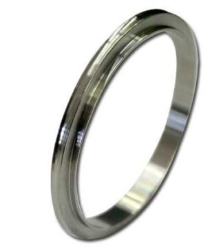 Centering ring Aluminum for tapered style ISO flange DN80