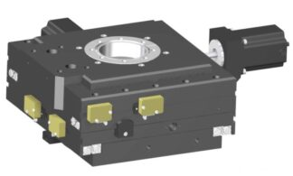 XY-table 2-phase stepper motor operated 25mm travel, DN100CF base flange DN63CF travel flange