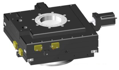 XY-table 2-phase stepper motor operated 25mm travel, DN150CF base flange DN100CF travel flange