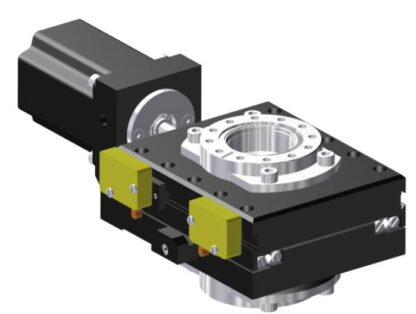 X-table 2-phase stepper motor operated 12,5mm travel, DN40CF tapped flanges