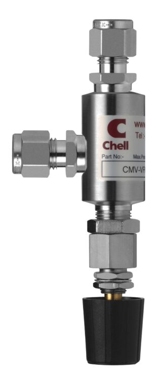 "Fine flow needle valve with 1/4"" VCR fitting"