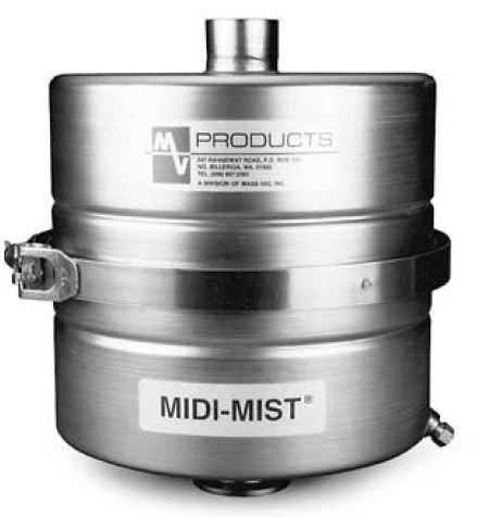 MidiMist 8 oil mist eliminator in-line with DN40KF ports