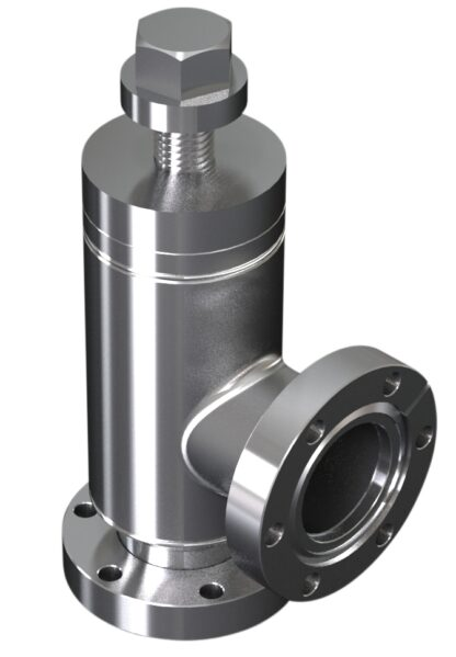 All metal angle valve manual operated DN63CF