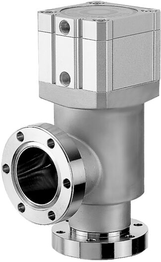 Pneumatic operated, bellow sealed angle valve, single acting, excluding solenoid, DN19CF