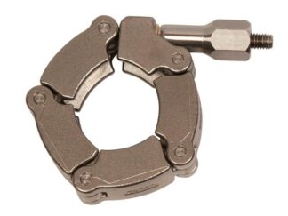 Stainless steel chain clamp for metal seals for DN25KF and DN25CF flange