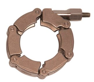 Stainless steel chain clamp for metal seals for DN40KF and DN40CF flange