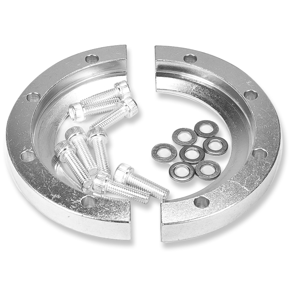 Aluminum KF bulkhead clamps for DN50KF with 8 screws 10-32x5/8