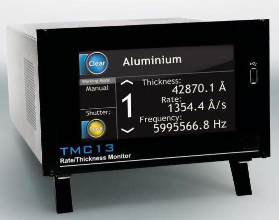 Thickness monitor controler for 6 channels. Frequency resolution 0,1 Hz. Incl cables