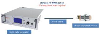 1X200W Hi-Wave collisional type plasma source complete setup for 1 source