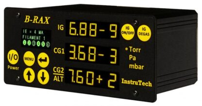 UHV vacuum controller to 10 e-11 mBar for one CC606 UHV cold cathode or CC605 HV cold cathode gauge and 2 Convection gauges