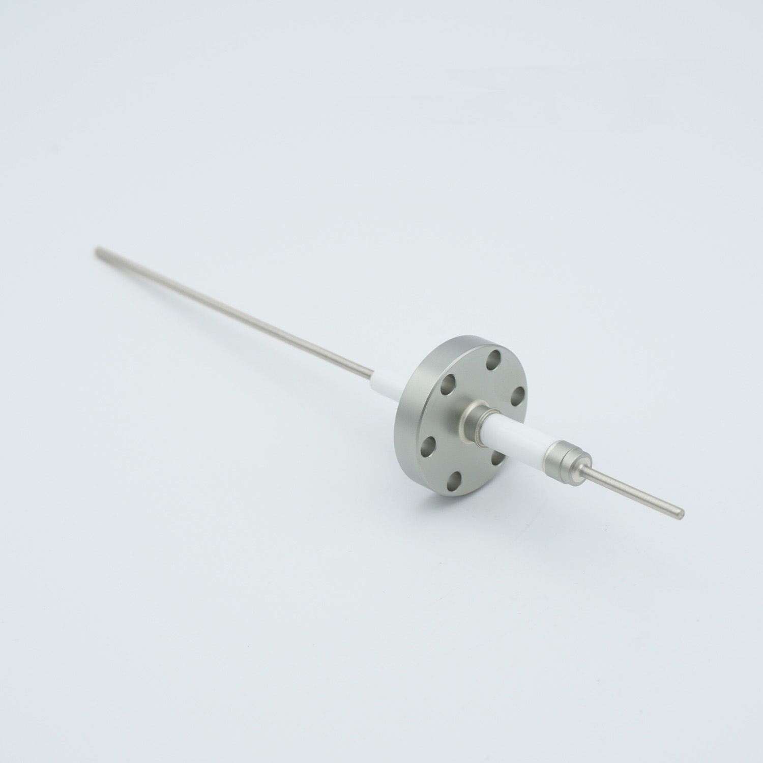 1 pin high voltage feedthrough 10000Volt / 3 Amp. Stainless steel conductor, DN19CF flange