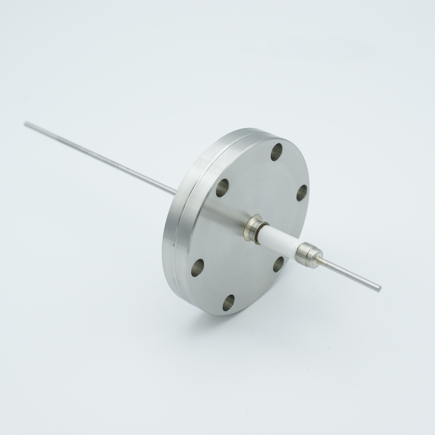 1 pin high voltage feedthrough 10000Volt / 15 Amp. Nickel conductor, DN40CF flange