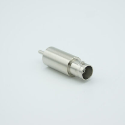 Grounded shield, single ended BNC feedthrough 500V / 3 Amp, without connector, weld fitting