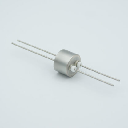 2 pin Molybdenum conductor feedthrough 1000Volt / 13 Amp. weld fitting