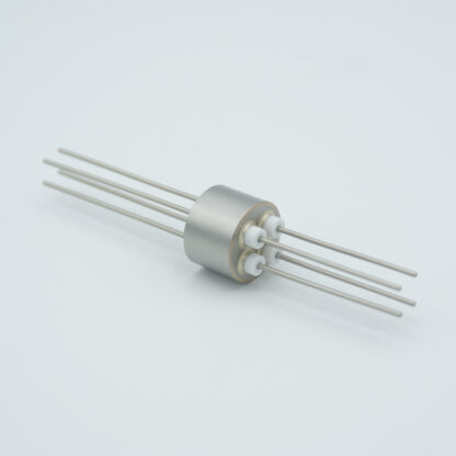 4 pin stainless steel conductor feedthrough 1000Volt / 15 Amp. weld fitting