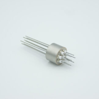 8 pin stainless steel tube conductor feedthrough 1000Volt / 15 Amp. weld fitting
