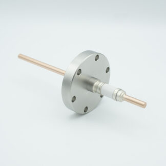 1 pin Nickel conductor feedthrough 5000Volt / 75Amp. DN40CF flange