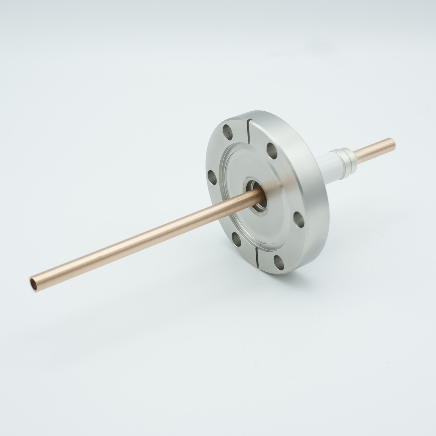 1 pin water cooled feedthrough 5000Volt DC Nickel conductor, DN40CF flange