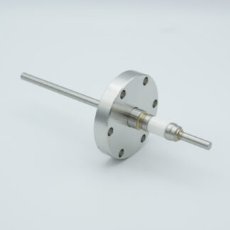 1 pin stainless steel conductor feedthrough 5000Volt / 7Amp. DN40CF flange