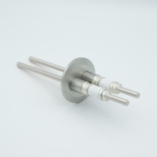 2 pin stainless steel conductor feedthrough 5000Volt / 7 Amp. DN40KF flange