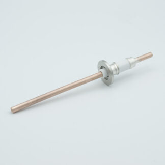 1 pin Nickel conductor feedthrough 5000Volt / 75 Amp. DN16KF flange
