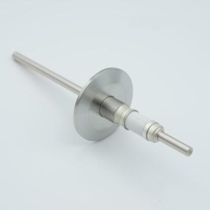 1 pin Molybdenum conductor feedthrough 5000Volt / 93 Amp. DN40KF flange