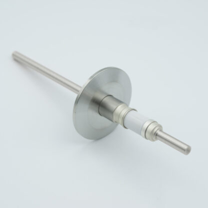 1 pin Stainless steel conductor feedthrough 5000Volt DC / 7 Amp. DN25KF flange