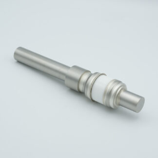 1 pin feedthrough 5000Volt / 7 Amp. Stainless steel conductor, weld fitting