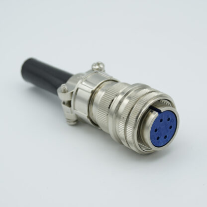"MS series air-side connector, 6 pins, 700 Volts, 10 Amp per pin, accepts 0.056"" or 0.062"" dia pins"