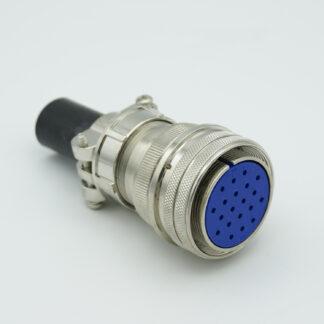 "MS series air-side connector, 20 pins, 700 Volts, 10 Amp per pin, accepts 0.056"" or 0.062"" dia pins"