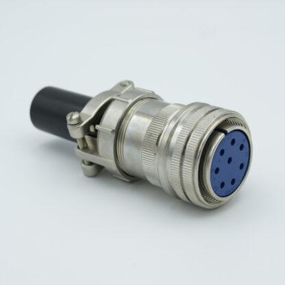 """8 pin MS circular air-side connector, 700 Volts, 23 Amp per pin, accepts 0.092"""" or 0.094"""" dia. pins"""