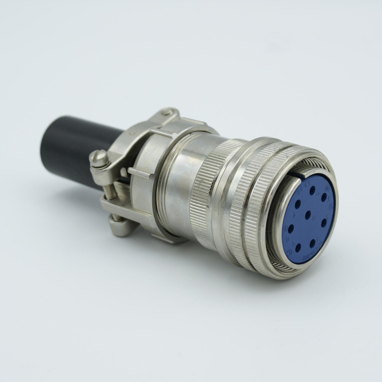8 pin MS circular air-side connector, 700 Volts, 23 Amp per pin, accepts 0.092