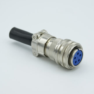 "5 pin MS circular air-side connector, 700 Volts, 23 Amp per pin, accepts 0.092"" or 0.094"" dia. pins"