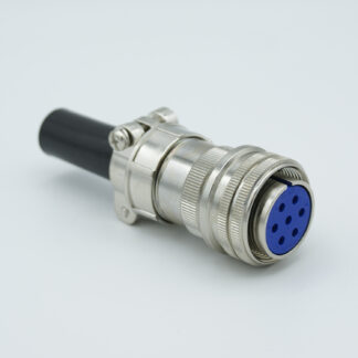 "7 pin MS circular air-side connector, 700 Volts, 23 Amp per pin, accepts 0.092"" or 0.094"" dia. pins"