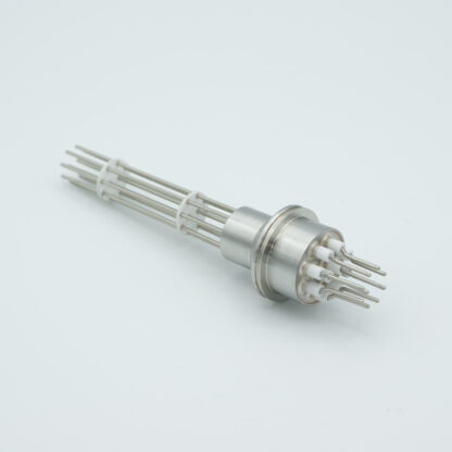 10 pin feedthrough 2000Volt / 10 Amp. Alumel conductor, weld fitting