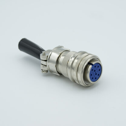 """MS circular air-side connector, 5 pair Thermocouple, type J, accepts 0.056"""" dia. pins"""