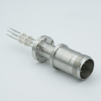 3 pair Thermocouple type-K with MS connector on atmospheric side, DN19CF flange