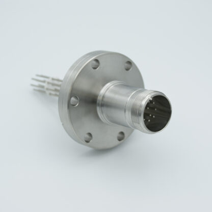 5 pair Thermocouple type-E with MS connector on atmospheric side, DN40CF flange