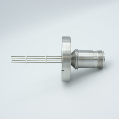 2 pair Thermocouple type-E with MS connector on atmospheric side, DN40CF flange