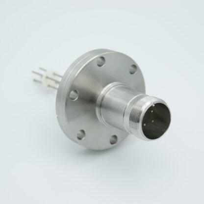 4 pin feedthrough with air-side connector 700Volt / 10 Amp. DN40CF flange