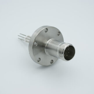 6 pin feedthrough with air-side connector 700Volt / 10 Amp. DN40CF flange
