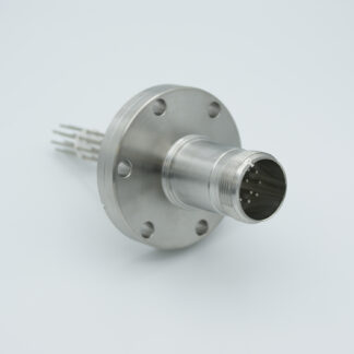 5 pair Thermocouple type-K with MS connector on atmospheric side, DN40CF flange